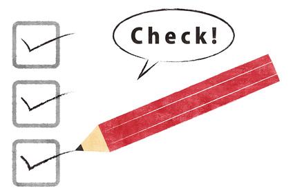 チェック欄と鉛筆