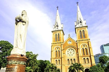 Saigon Notre-Dame Basilica in Ho Chi Minh City, Vietnam