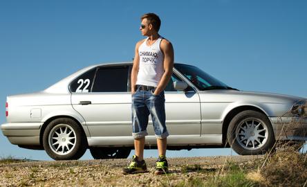 Men with car