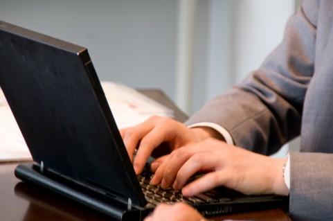 パソコンでタイピング