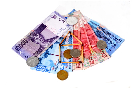 Rupiah (Indonesian Money) and matches