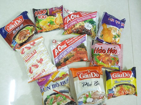 10種類のインスタント麺