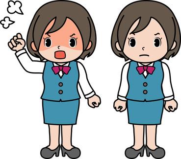怒っている女性社員