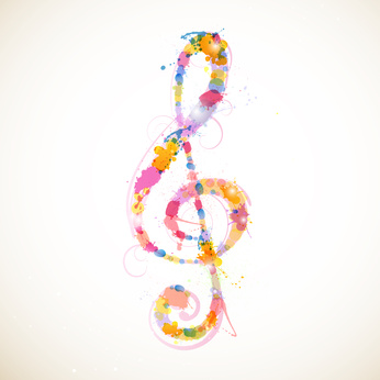 Vector Illustration of an Abstract Colorful Clef