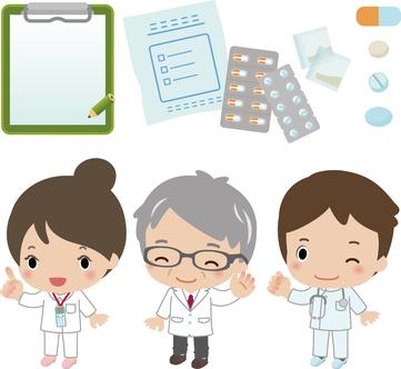 病院スタッフと薬のイメージ