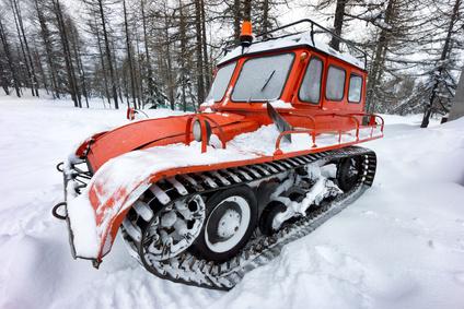 old frozen snow car