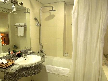 98 高級ホテルでもシャワーが冷水のときも (1)