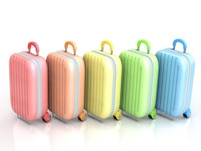 色とりどりのスーツケース