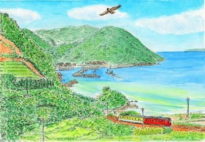 初夏の海を描いた絵