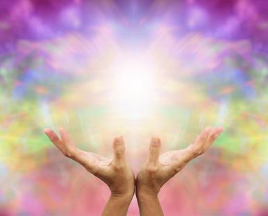 霊能力者の手からでる幻覚