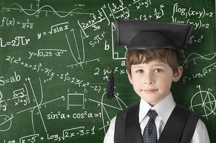 天才少年と黒板