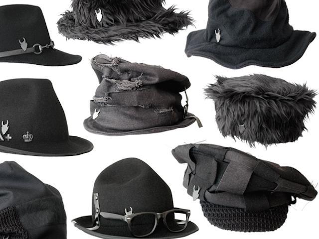 シンプルな黒の帽子