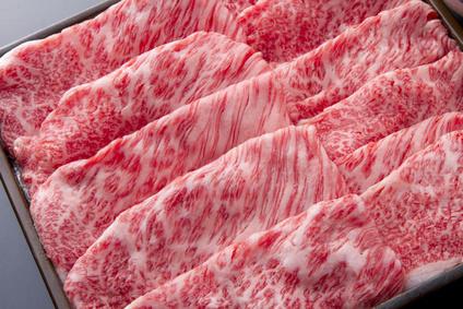 高級な霜降りの牛肉