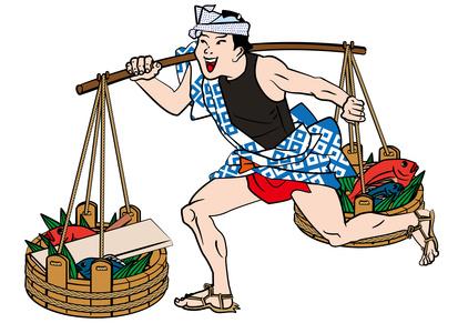 江戸時代の魚屋