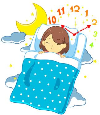 睡眠と時間のイメージ