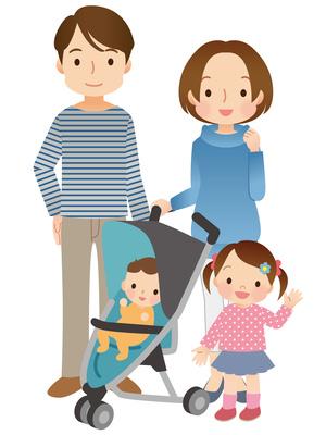 幼い子供のいる家族