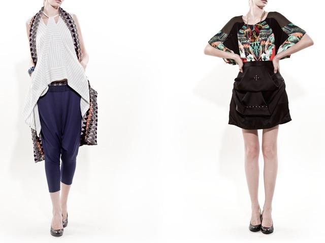 服の形や模様が個性的