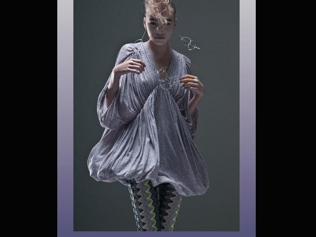 バルーンスカート型のワンピース