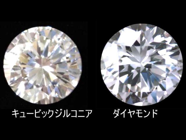 ダイヤモンドと人工的につくられた宝石の見た目の違い