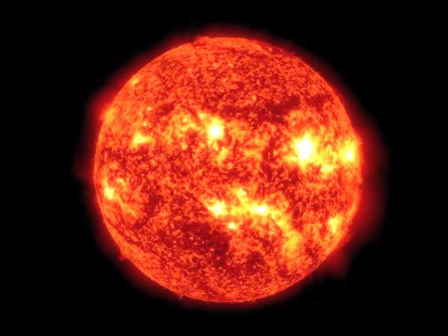 燃え続ける太陽のイメージ