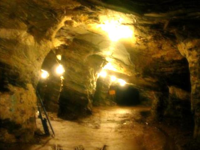 金の採掘現場の様子