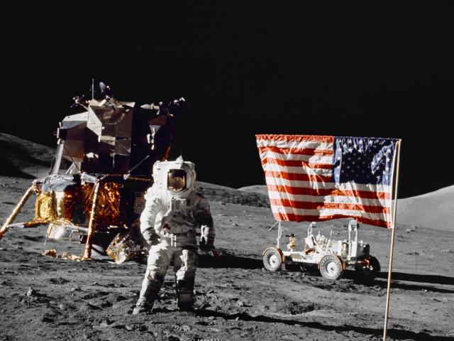 月面での撮影