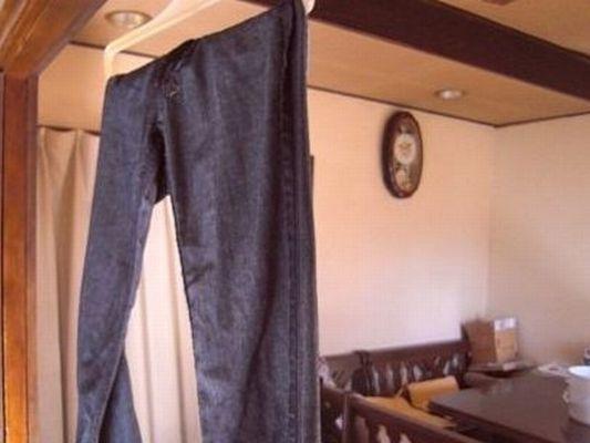 洗濯されたジーンズ