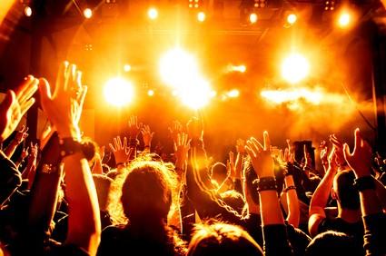 ロックコンサートの風景