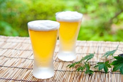 よく冷えたグラスのビール