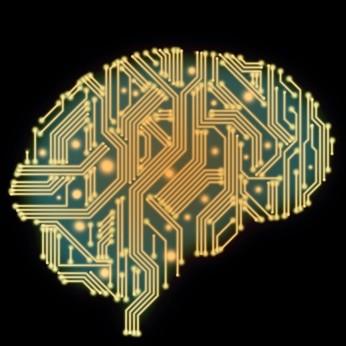 脳の形をしたコンピュータ基盤