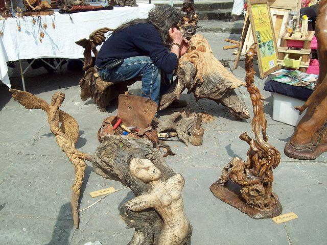 老木ならではのアートな作品