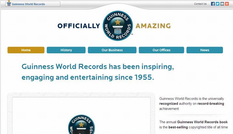 ギネス記録のホームページ