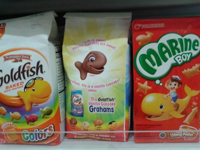 魚のキャラクターのパッケージ