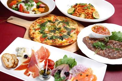 いろいろな種類の料理