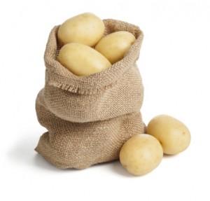 袋に入ったジャガイモ