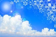 雪 空 風景