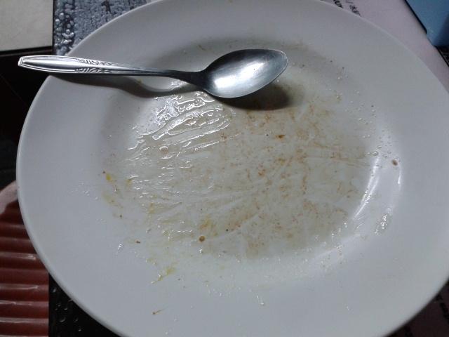 キレイに食べました