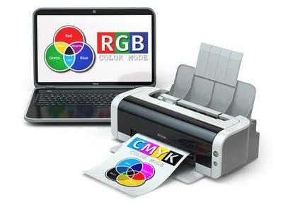 CMYK と RGBのイメージの違い