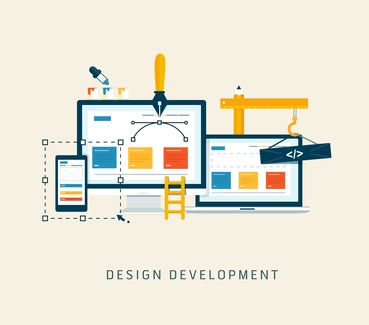 Designing a website or application. Flat style vector  design