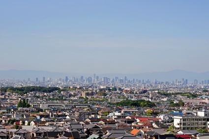 大阪の密集した住宅街