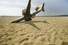 passenger airplane crashed on beach
